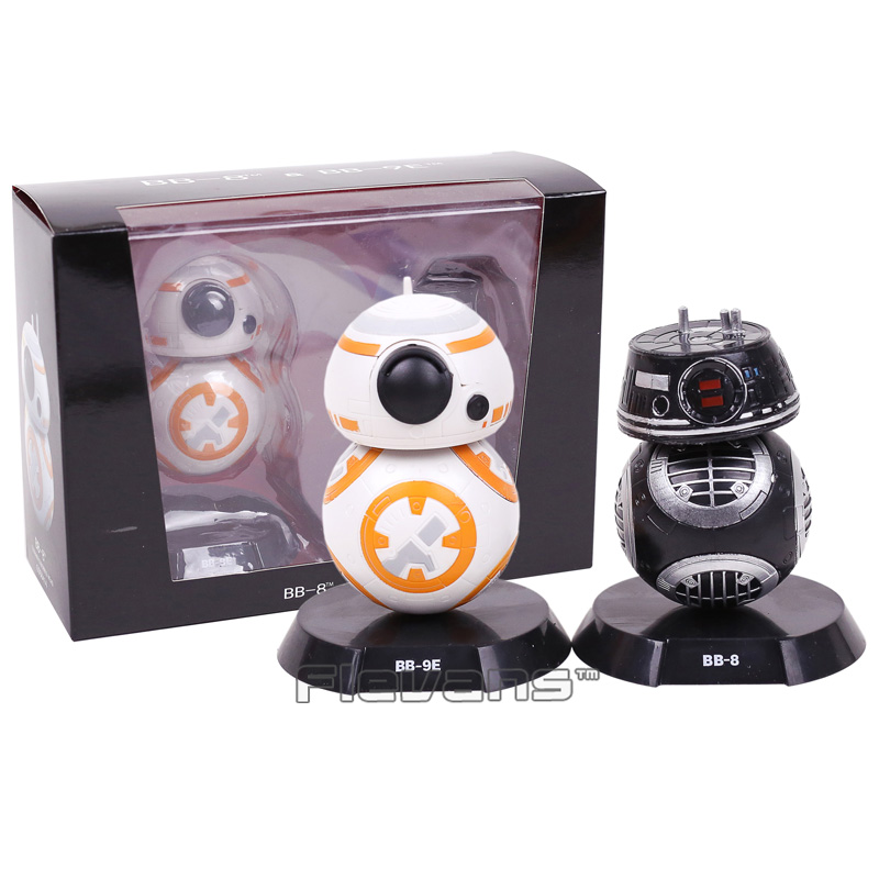Star Wars Son Jedi Robot BB-9E & BB-8 Bobble Head Bebekler PVC Action Figure Koleksiyon Model Oyuncaklar 2-pack