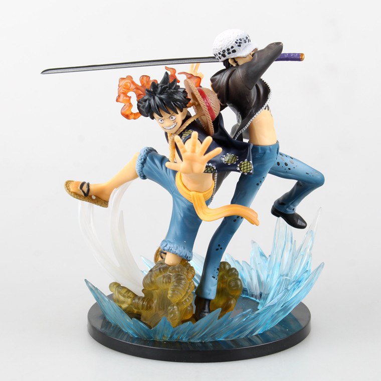 Huong Anime One Piece Trafalgar Hukuk 5th VS 17 CM Luffy Yıldönümü PVC Action Figure Brinquedos Koleksiyon Model Oyuncaklar
